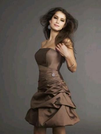 9e835cf0c7c Společenské šaty - Fotoalbum - Krátké šaty - hnede 1
